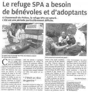 Le refuge SPA a besoin de bénévoles et d'adoptants